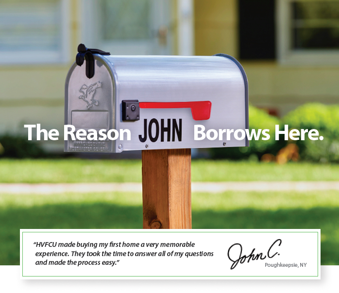 Mailbox with the name John on it